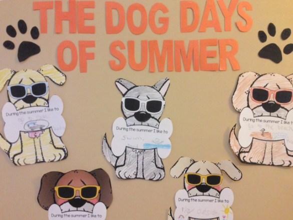 The Dog Days of Summer bulletin board display