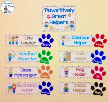 classroom helpers display dog theme