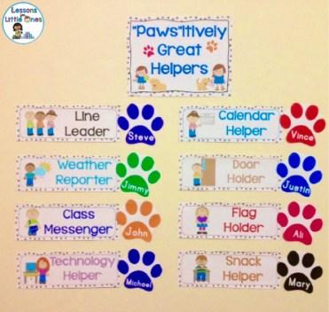 classroom helpers display dog theme