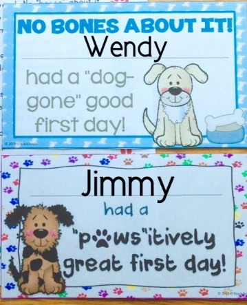 first day of school awards dog theme