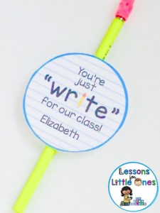 back to school student gift pencil tag