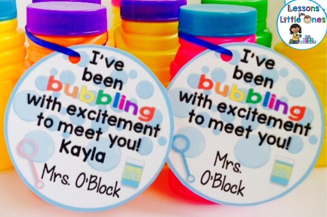 back to school student gift tag bubbles