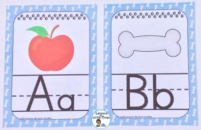 alphabet posters dog theme