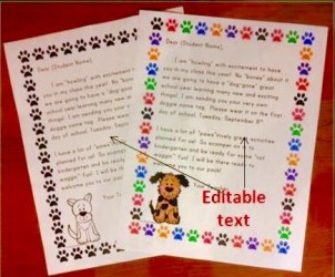 back to school welcome letters dog theme