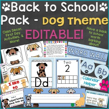 Back to School Pack - Dog Theme