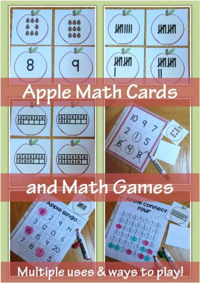 apple math cards and games