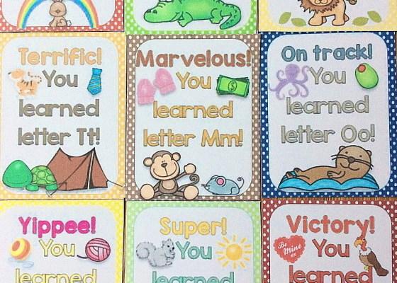 alphabet letter brag tags