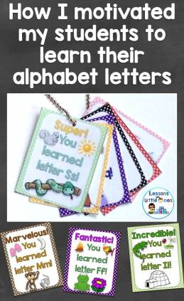 How I motivated my students to learn their alphabet letters