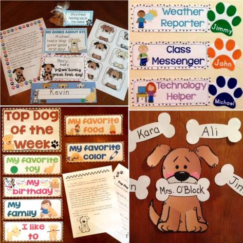 Dog Back to School Classroom Decor and Activities