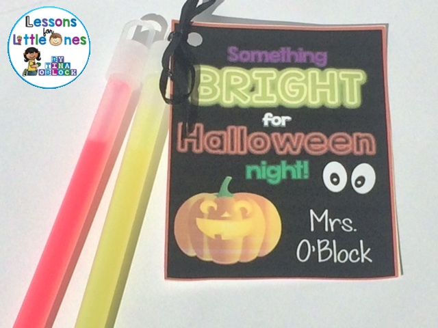 Something Bright for Halloween Night Glow Stick Student Gift and Free Tag