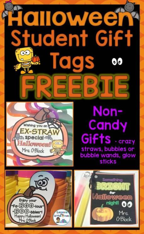 Free Halloween Student Gift Tags