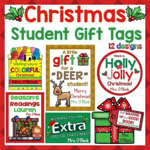Christmas Student Gift Tags
