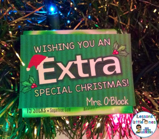 Christmas student gift tag idea