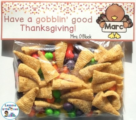 free Thanksgiving Treat Bag Topper