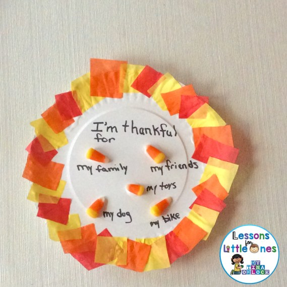 Thanksgiving craft for 5 kernels of corn legend