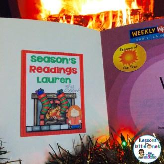 Seasons Readings Christmas student gift tag