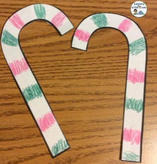 Christmas candy cane bulletin board and craft