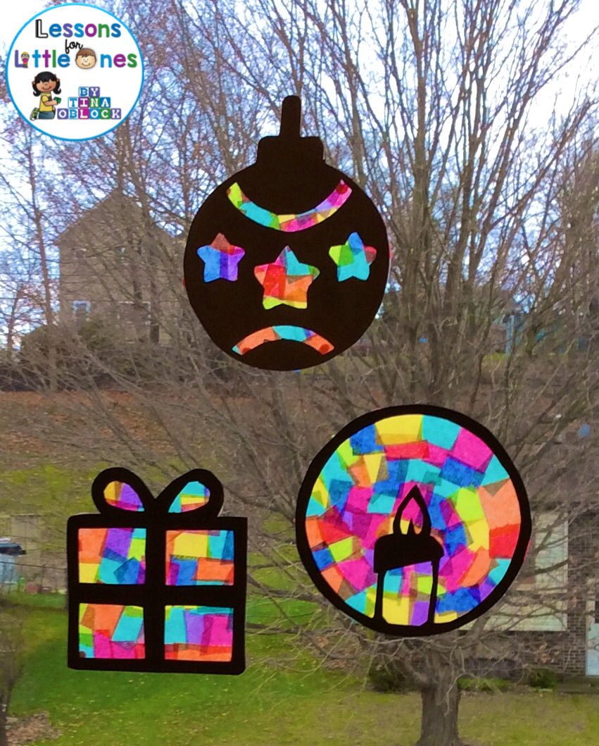 Christmas Silhouette Window Decorations Lessons For Little Ones By Tina O Block