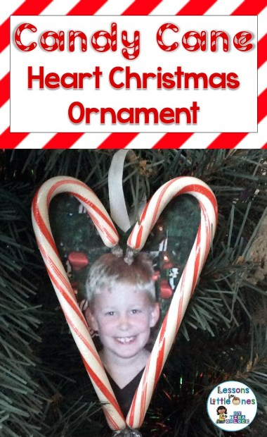 Candy Cane Heart Christmas Ornament