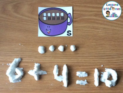 snow dough play dough math learning activity
