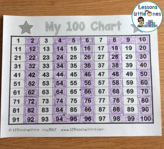 100 chart secret number