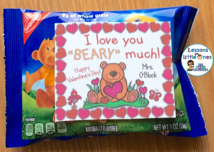 I Love You Beary Much Student Valentine Gift Tag