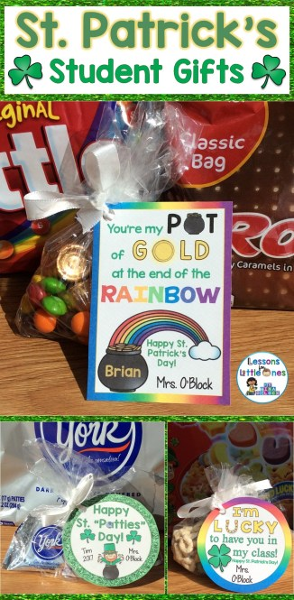St. Patrick's Day Treats for Students & Gift Tags