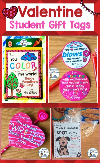 Valentine's Day Student Gift Ideas & Gift Tags