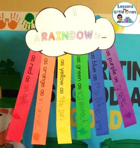 rainbow writing craftivity - A rainbow is...