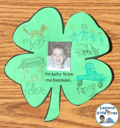 St. Patrick's Day Lucky to be Me Writing Craftivity