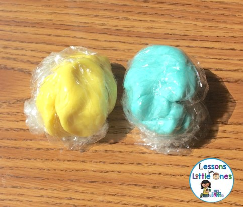 Easter Peeps Play Dough yellow and blue