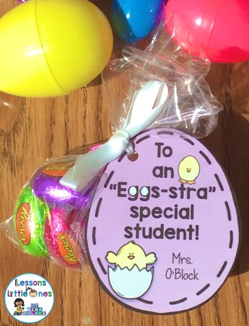 """Easter student gift tag - """"Eggs-tra"""" Special"""