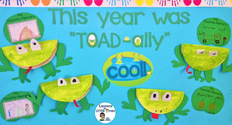 End of the year bulletin board and craft