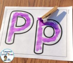 paint letters with pom pom painters