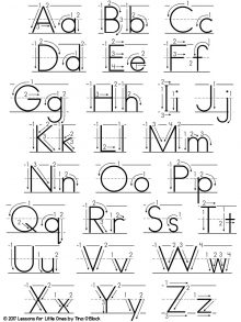 alphabet handwriting chart