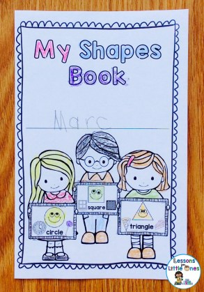 2D shapes brag tag book cover