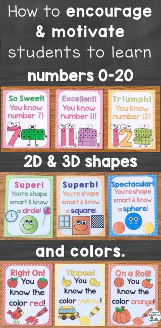 How to encourage and motivate students to learn numbers, shapes, and colors.