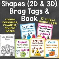 Shapes Brag Tags (Unique Brag Tags for 2D & 3D Shapes)