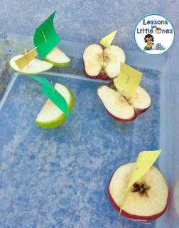 apple boats STEM challenge