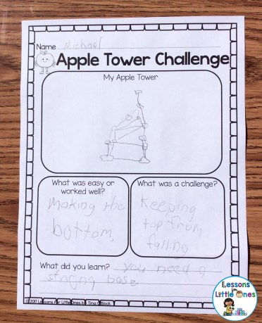apple tower STEM challenge page