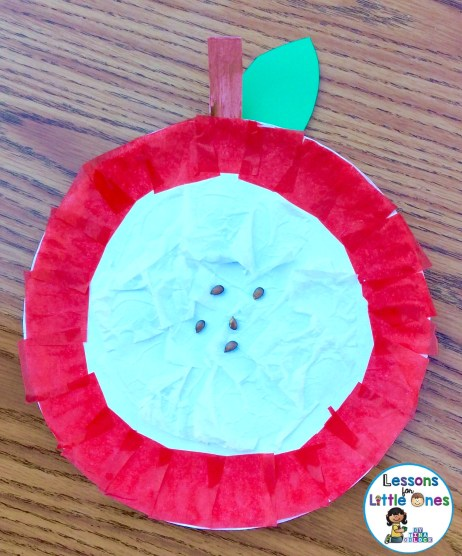 apple craftivity - paper plate apple