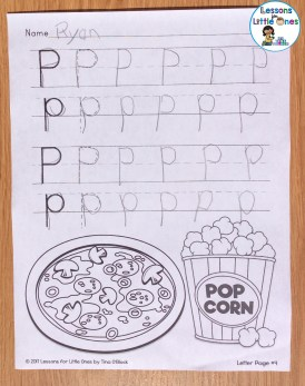 alphabet letter writing page