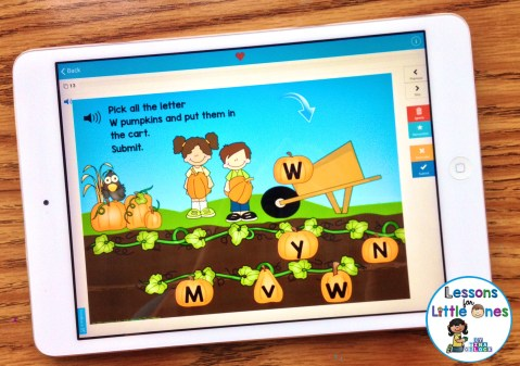 letter practice on iPad using Boom Cards