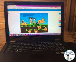 letter practice on laptop using Boom Cards