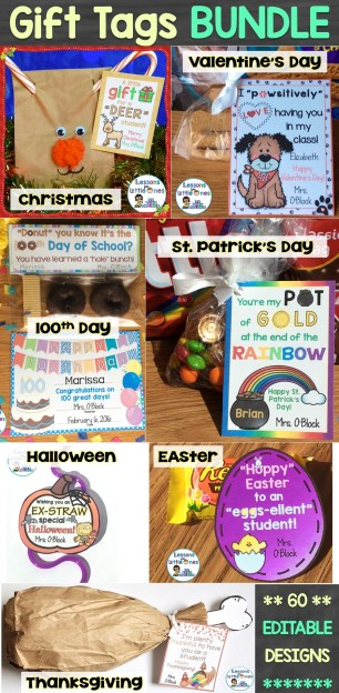 Holiday Student Gift Tags Money Saving Bundle
