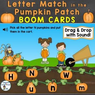 Letter Match in the Pumpkin Patch Boom Cards Teachers Pay Teachers