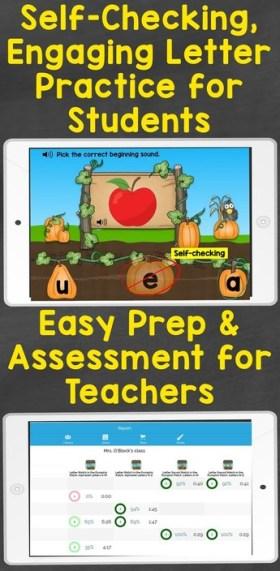 letter practice for students letter assessment for teachers