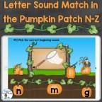 letter sounds beginning sounds practice for letters N-Z