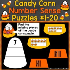 Digital Candy Corn Number Sense Puzzles for Numbers 1-20