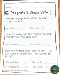 magnets & Jingle bells Christmas science page